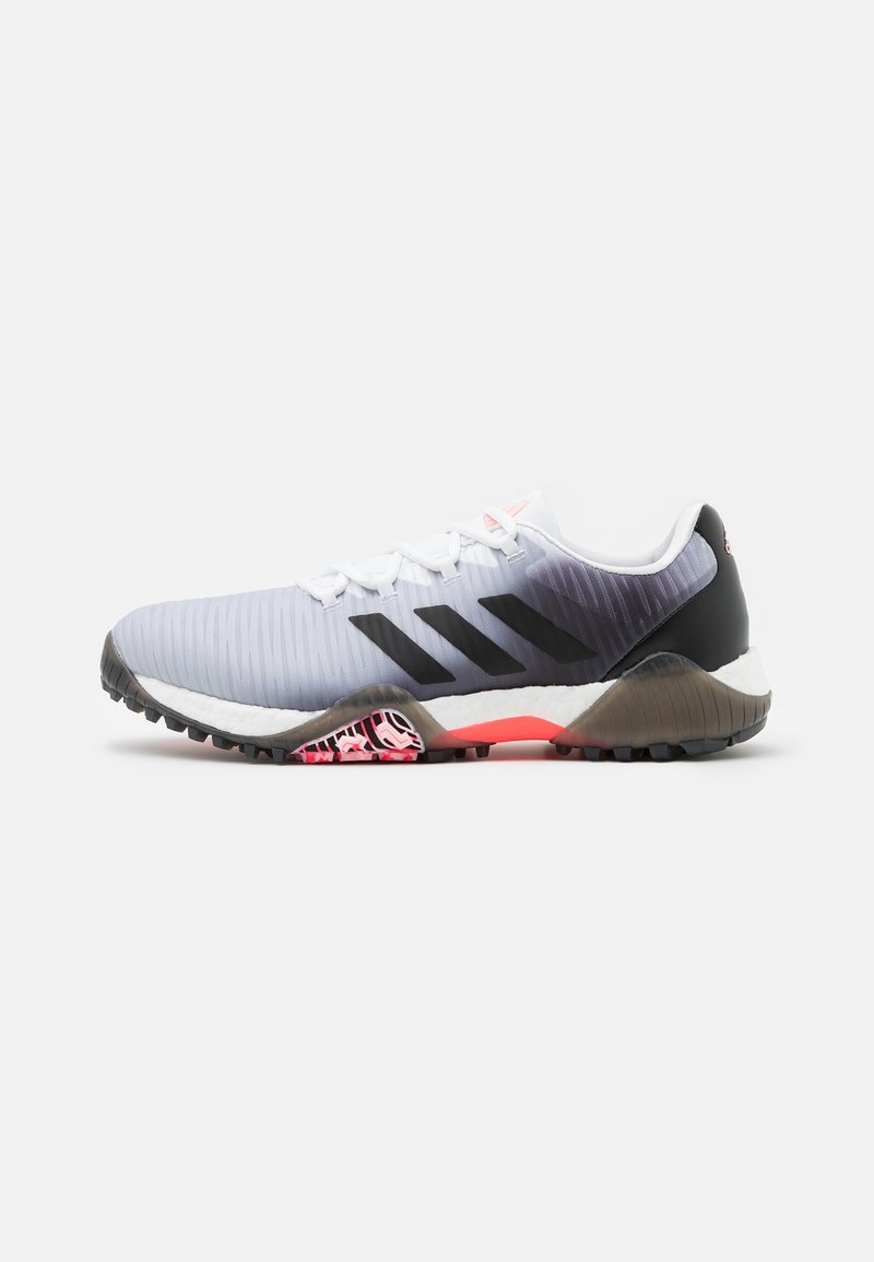 adidas Golf - CHAOS BOOST TRAXION SHOES - Golf shoes - footwear white/core black/light flash orange