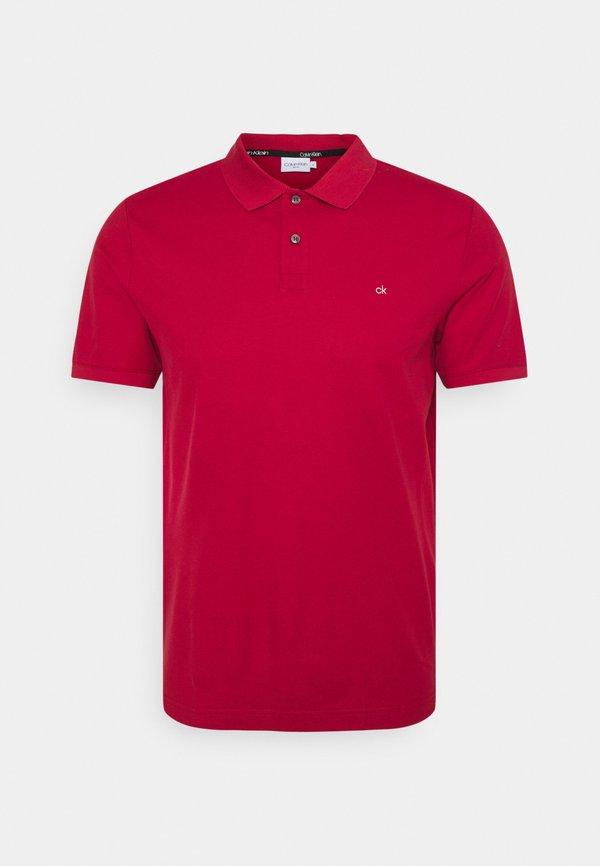 Calvin Klein REFINED LOGO SLIM - Koszulka polo - red/czerwony Odzież Męska CPAN