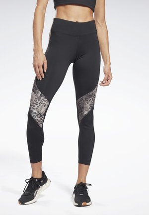 MODERN SAFARI PANEL LEGGINGS - Leggings - black/bougry