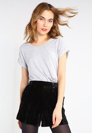 ONLMOSTER ONECK - Camiseta básica - light grey melange
