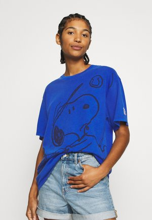 LEVI'S X PEANUTS GRAPHIC - Print T-shirt - surf blue