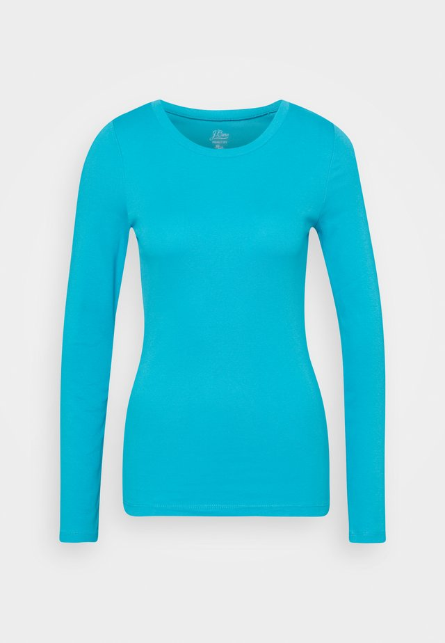 SLIM PERFECT FIT CREW - Long sleeved top - monaco blue