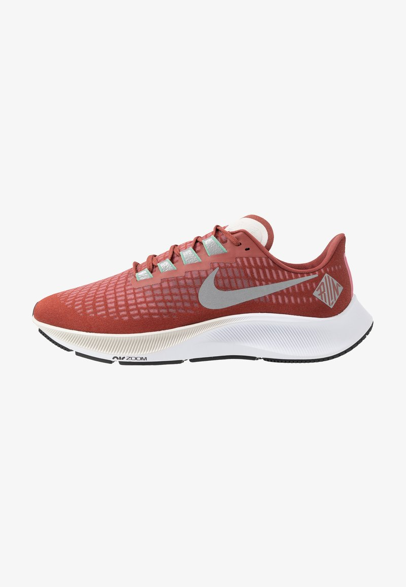 Nike Performance - AIR ZOOM PEGASUS - Löparskor stabilitet - claystone red/silver/white