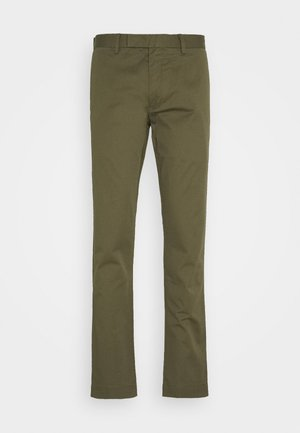 FLAT PANT - Kangashousut - expedition olive