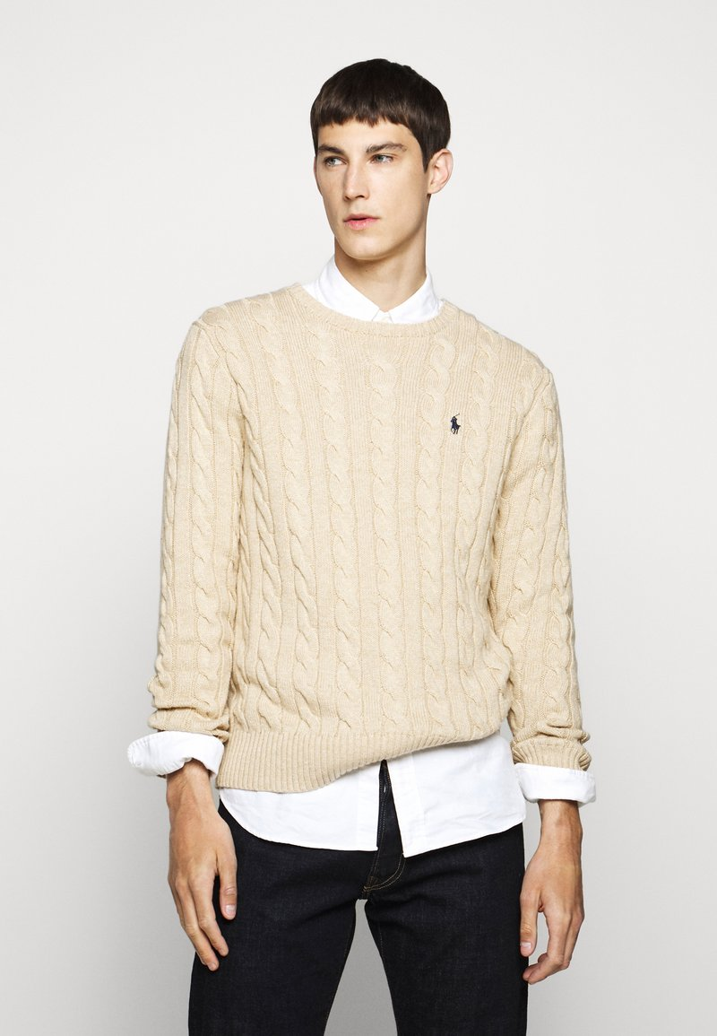 Polo Ralph Lauren - CABLE - Svetr - oatmeal heather