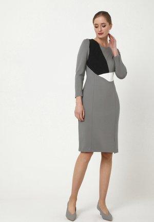 LAIMA - Shift dress - grau schwarz