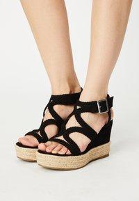 Bullboxer - taupe - High heeled sandals - black - 0