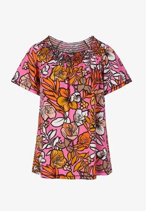 FLORALES  - Blouse - pink/orange/light brown