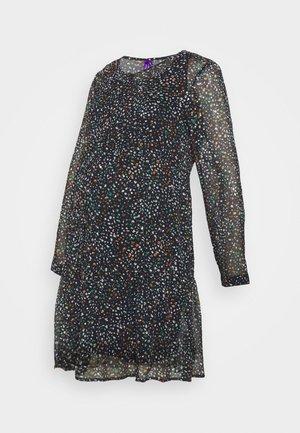 DELFINA TIERED DRESS - Jerseyjurk - navy/gold