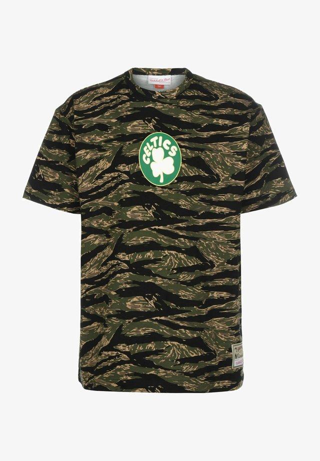 TIGER BOSTON CELTICS - T-shirt print - camo