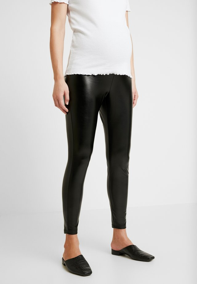 FAUX LEGGING - Leggingsit - true black