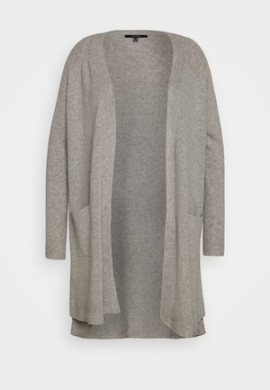 VMTUDARNEL OPEN - Cardigan - light grey melange