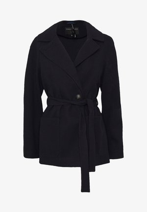 SHORT WRAP LIGHTWEIGHT COAT - Krátký kabát - navy
