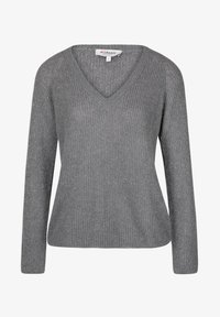 Morgan - LONG SLEEVED V NECK - Pullover - mottled grey - 4