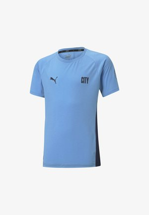 MAN CITY EVOSTRIPE  - Print T-shirt - team light blue-peacoat