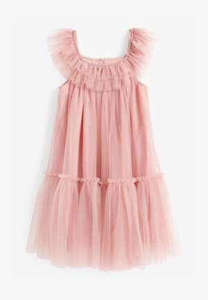 TIERED MESH - Cocktail dress / Party dress - pink