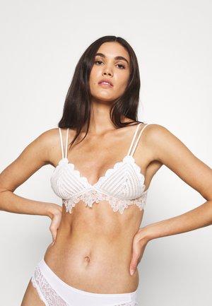 CORA BRALETTE - Triangle bra - white