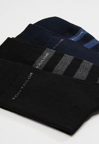TOM TAILOR - SOCKS STRIPES 4 PACK - Strumpor - blau/schwarz - 2