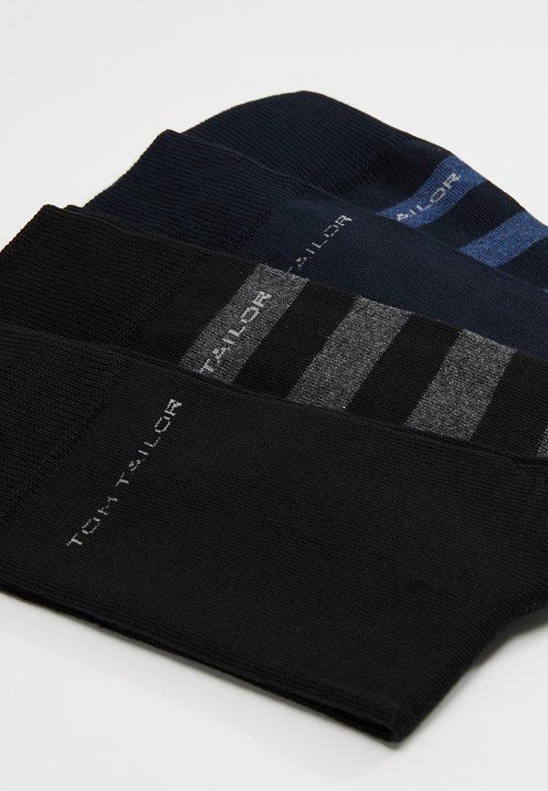 TOM TAILOR SOCKS STRIPES 4 PACK - Skarpety - blau/schwarz/niebieski Odzież Męska PJXF