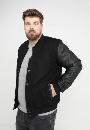 OLDSCHOOL COLLEGE JACKET  - Summer jacket - black/black