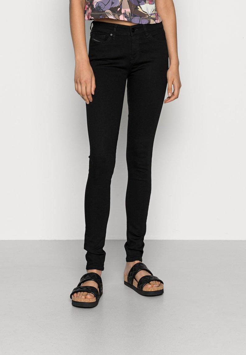 Diesel - SLANDY - Jeans Skinny Fit - black denim