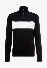 Calvin Klein - COLOR BLOCK LOGO ZIP MOCK - Mikina na zip - black - 3