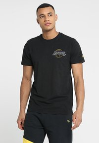 New Era - NBA LA LAKERS NEON LIGHTS TEE - Club wear - black - 0