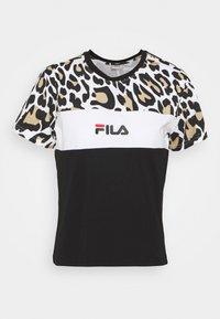Fila - ANOKIA BLOCKED TEE - Print T-shirt - bold/black/bright white - 4