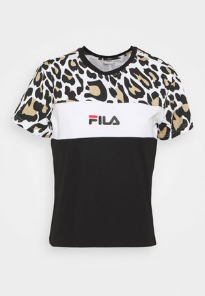 ANOKIA BLOCKED TEE - Print T-shirt - bold/black/bright white
