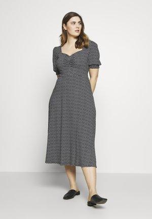 CURVE GYPSY SQUARE NECK MONO SPECK MIDI DRESS - Jersey dress - black