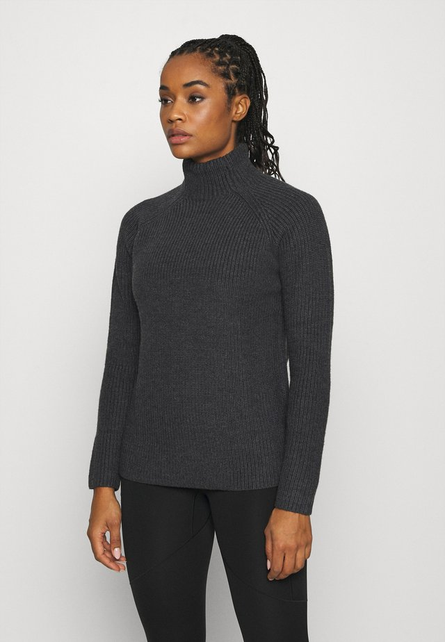 HILLOCK FUNNEL NECK - Neule - dark grey