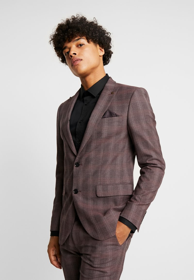 Burton Menswear London - MAUVE POW - Giacca elegante - burgundy
