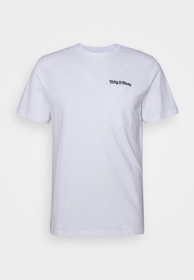 EASY TEE - T-shirt print - blanc