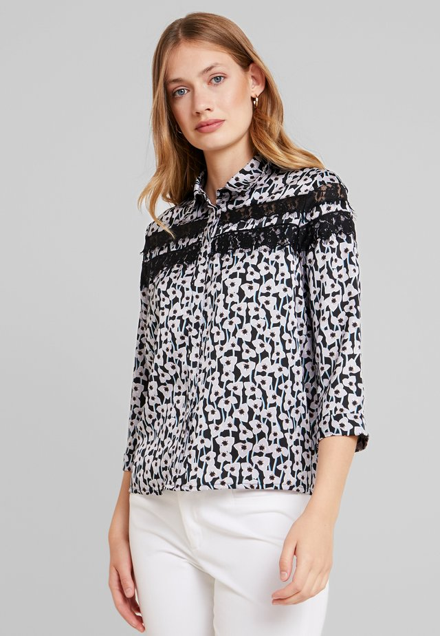 GINA FLOWER - Button-down blouse - viola