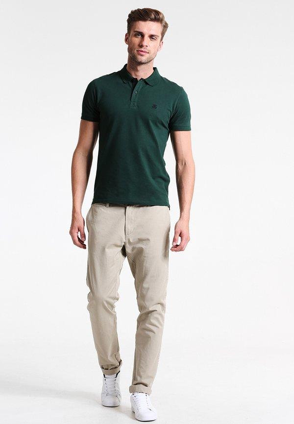 Selected Homme Koszulka polo - trekking green/ciemnozielony Odzież Męska APJY