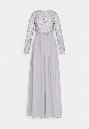 LACE TRIM GOWN - Společenské šaty - pearl grey