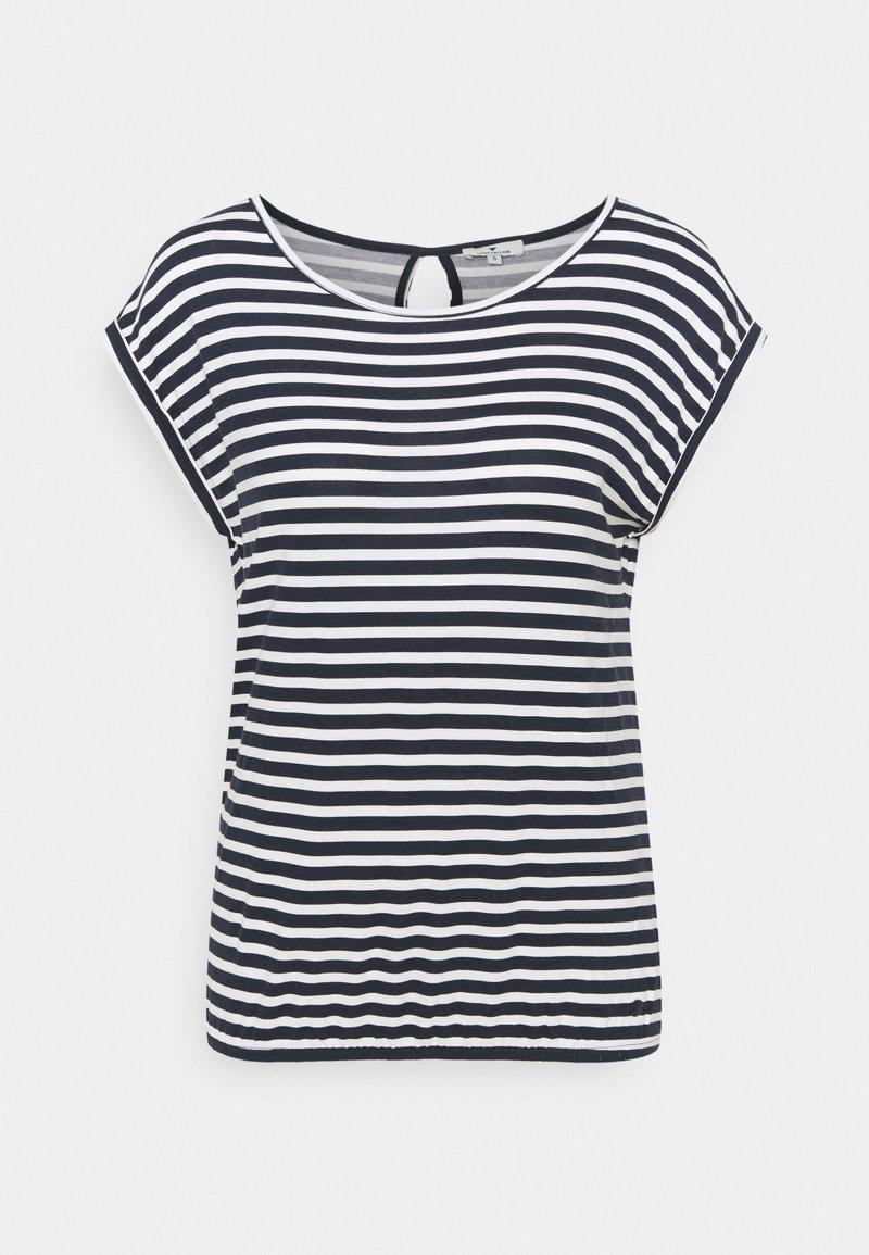 TOM TAILOR - Print T-shirt - navy