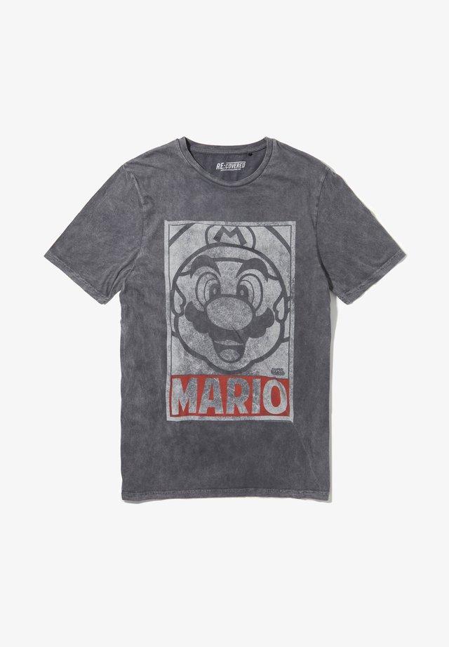 SUPER MARIO VINTAGE TONAL FACE - T-shirt print - grau