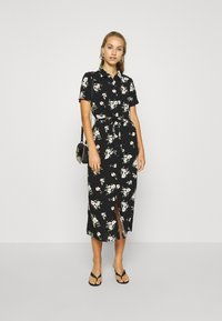 Vero Moda - VMSIMPLY EASY LONG SHIRT DRESS - Skjortekjole - black - 1