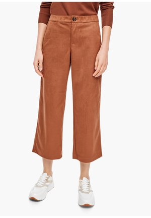 CULOTTE AUS VELOURS - Trousers - brown