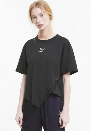 Print T-shirt - cotton black