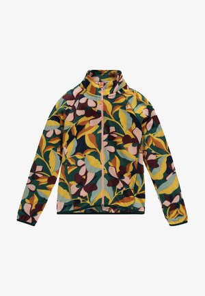 PRINTED FULL ZIP - Fleecejas - green aop w/ pink or purple