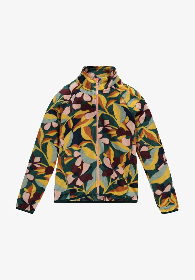 PRINTED FULL ZIP - Veste polaire - green aop w/ pink or purple