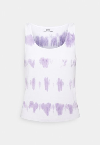 ONLLOLLY TANK TYE DYE - Top - cloud dancer/purple