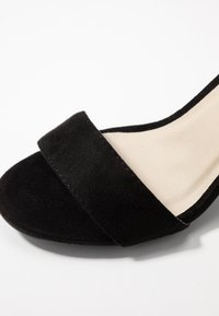 Nly by Nelly - BLOCK MID - Riemensandalette - black - 2