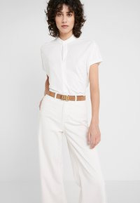 Lauren Ralph Lauren - SUPER SMOOTH - Ceinture - cappuccino/black - 1
