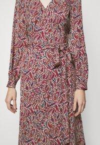 MICHAEL Michael Kors - TIERED WRAP DRESS - Day dress - dark ruby - 7