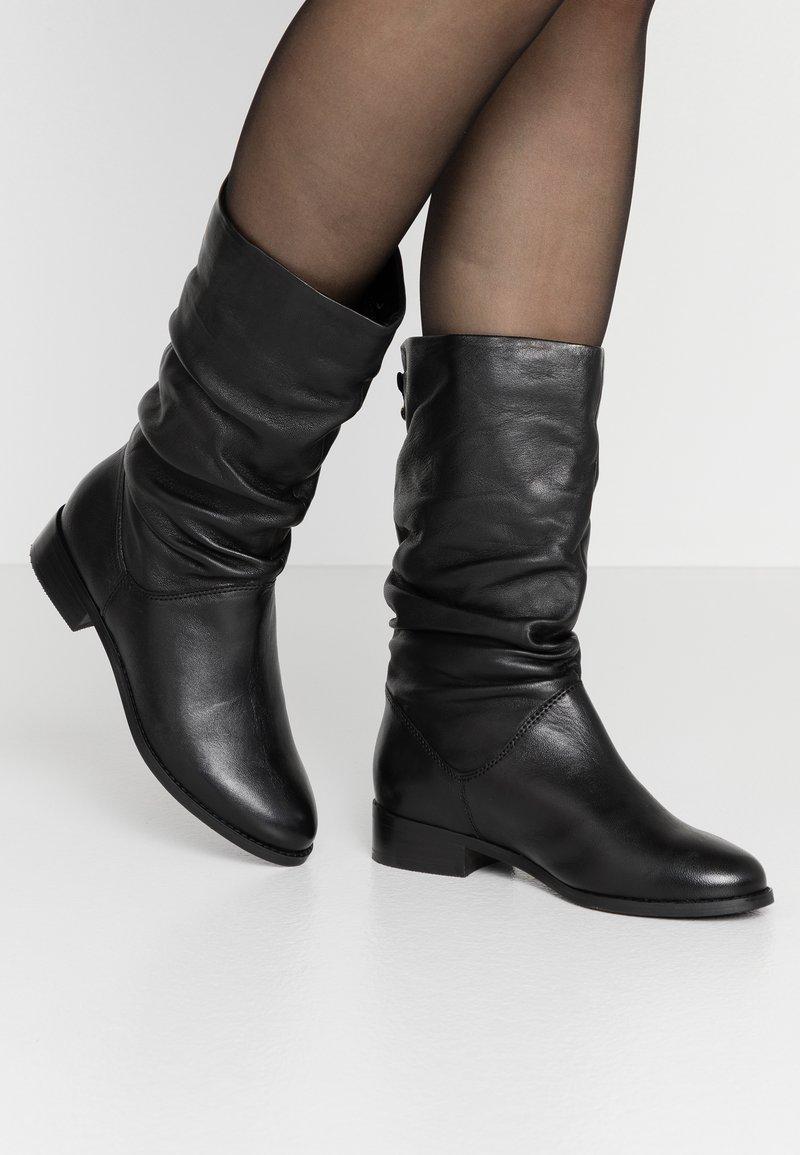 Dune London - ROSALINDA - Vysoká obuv - black