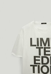 Massimo Dutti - LIMITED EDITION - T-shirt imprimé - white - 4