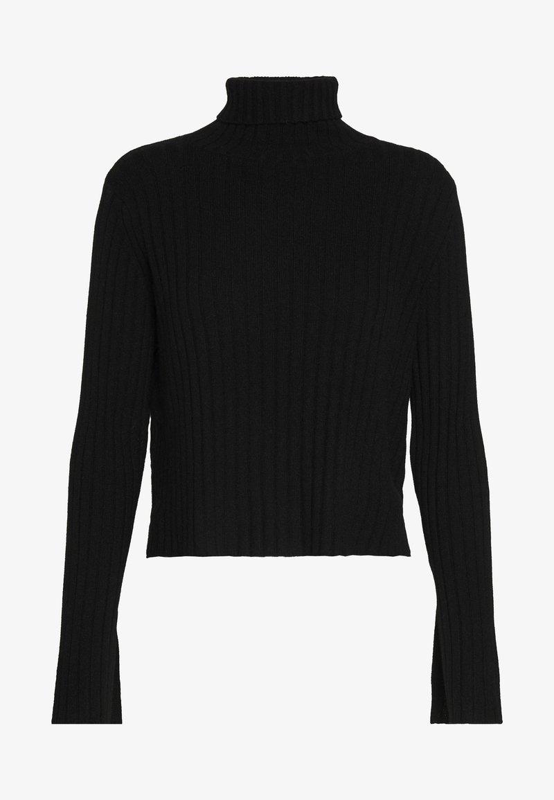 pure cashmere - TURTLENECK - Jumper - black